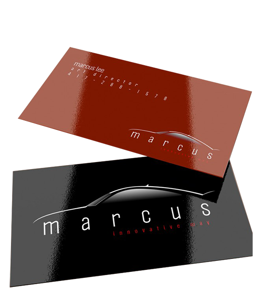 Glossy Business Cards - Data Graphics